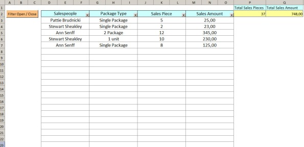 sales entry form
