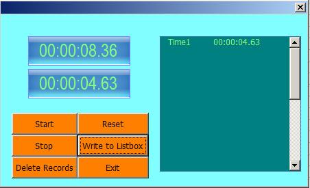Excel Chronometer (Stopwatch) Form | Net Merkez Advanced Ms Excel