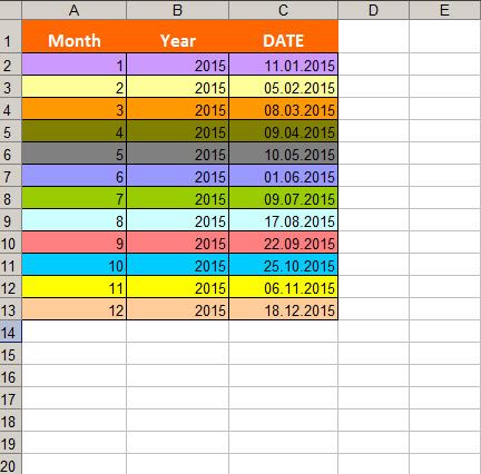 Convert date to month and year