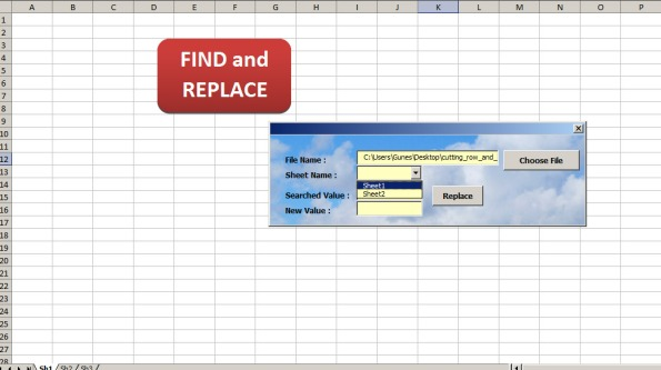 Excel find and replace data in closed workbook