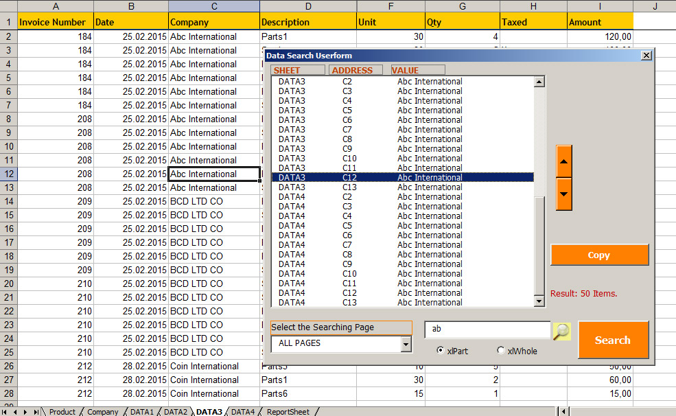 Excel Vba :Searching A Value Across An Entire Workbook With
