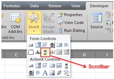 excel scrolling table