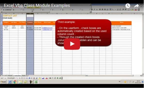 excel vba class module